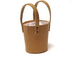 peveril basket/handle leatherlook small beige