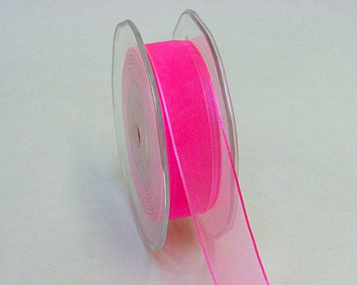 organza wired egde candy pink