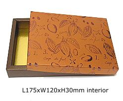box cacao, bronztwist/coppertin top